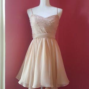 Bill Stuart Blush Silk Chiffon Bridesmaid Dress
